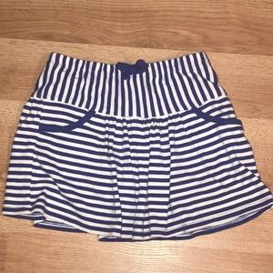 Gymboree Skirt Skort Blue Stripe